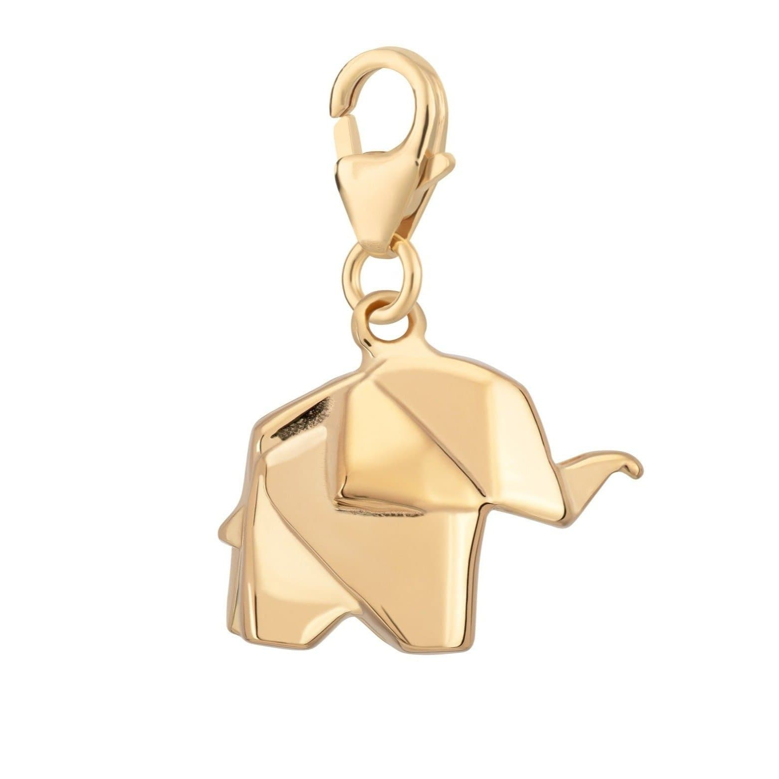 Gold Plated Origami Elephant Charm