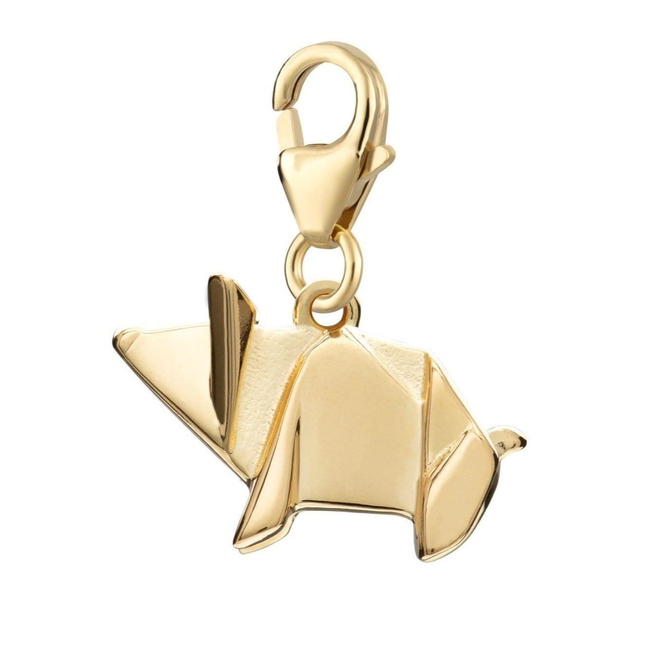 Gold Plated Origami Pig Charm