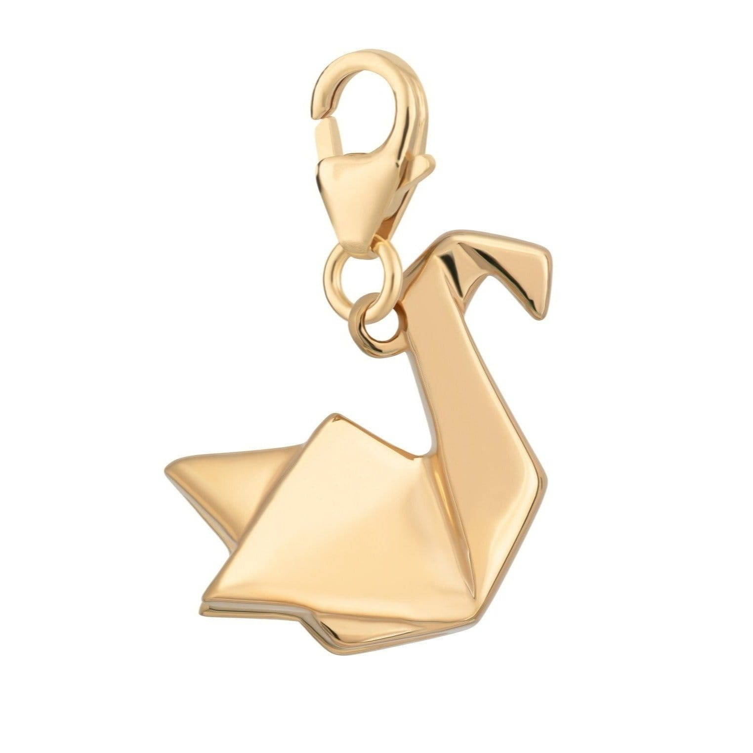 Gold Plated Origami Swan Charm