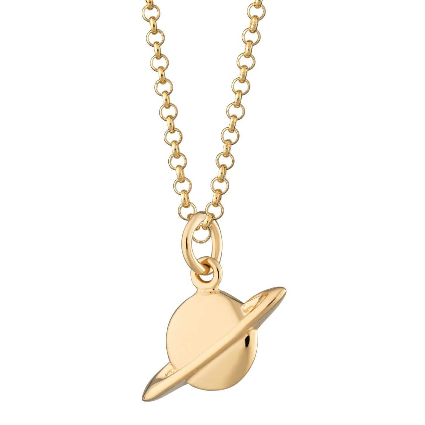Personalised Gold Plated Planet Necklace - Lily Charmed