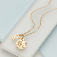 Personalised Gold Plated Sagittarius Zodiac Necklace - Lily Charmed
