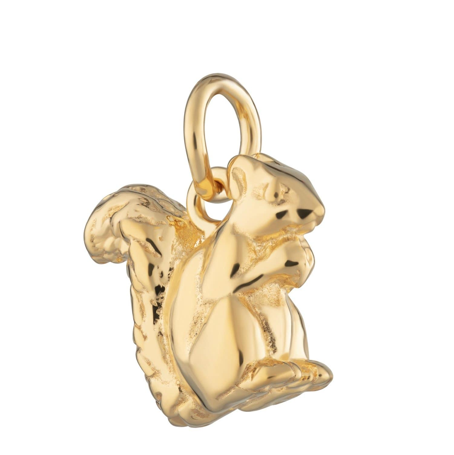 Gold Plated Squirrel Charm - Lily Charmed
