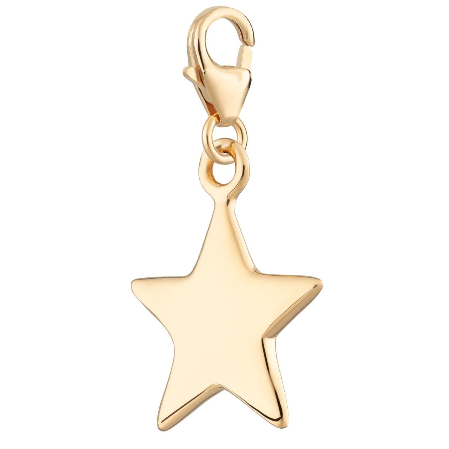 Gold Plated Solid Star Charm - Lily Charmed