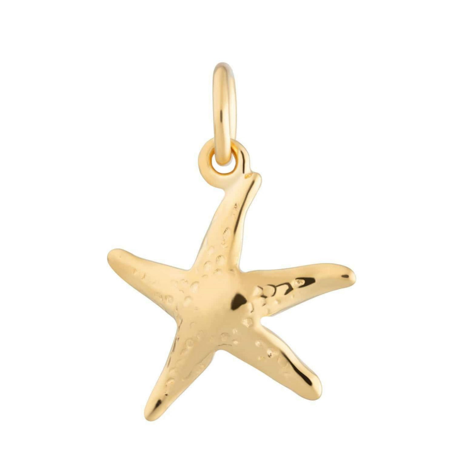 Gold Plated Starfish Charm - Lily Charmed