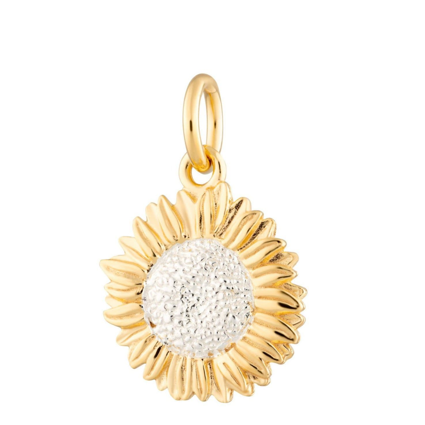 Gold Sunflower Charm by Lily Charmed