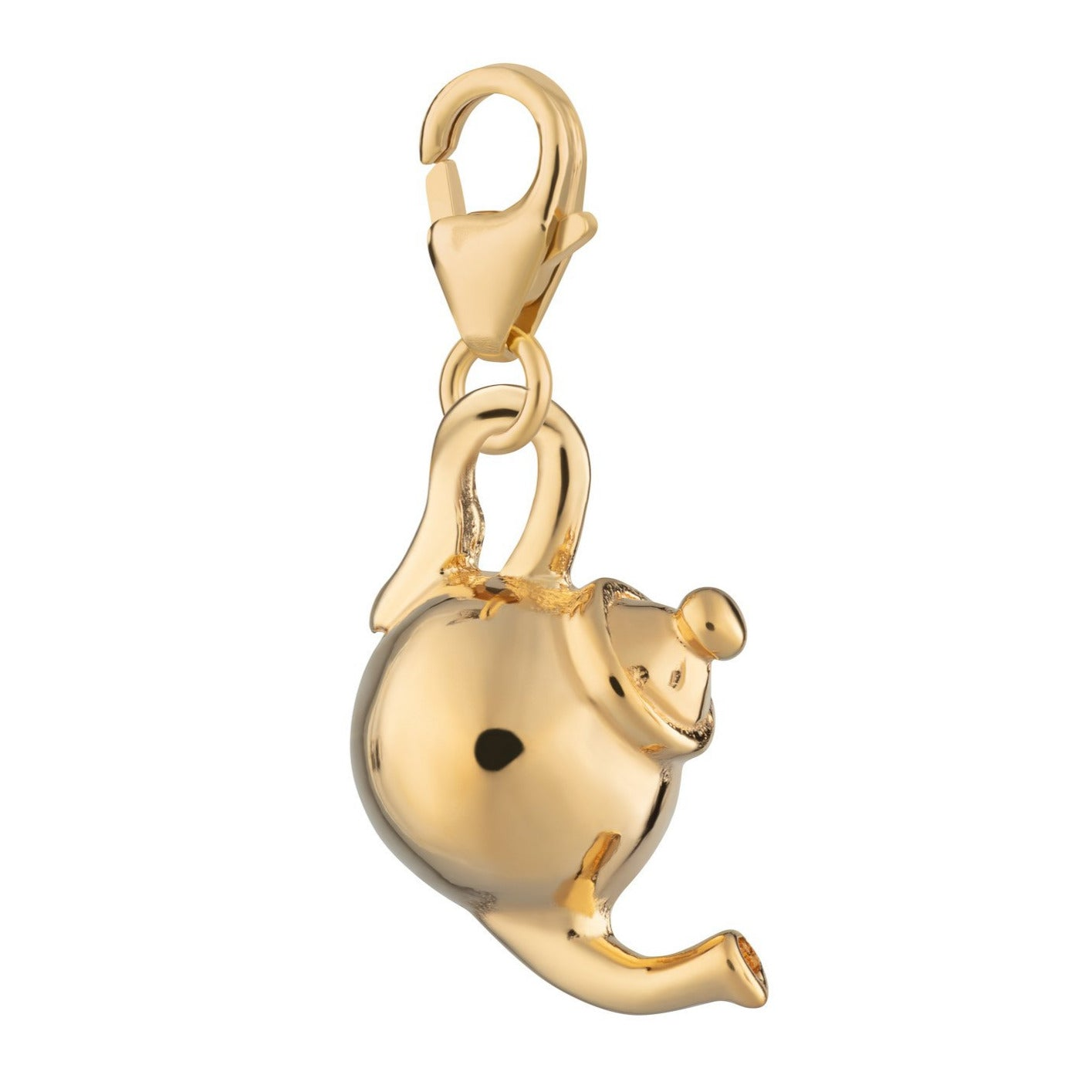 Gold Plated Teapot Clip on Charm by Lily Charmed