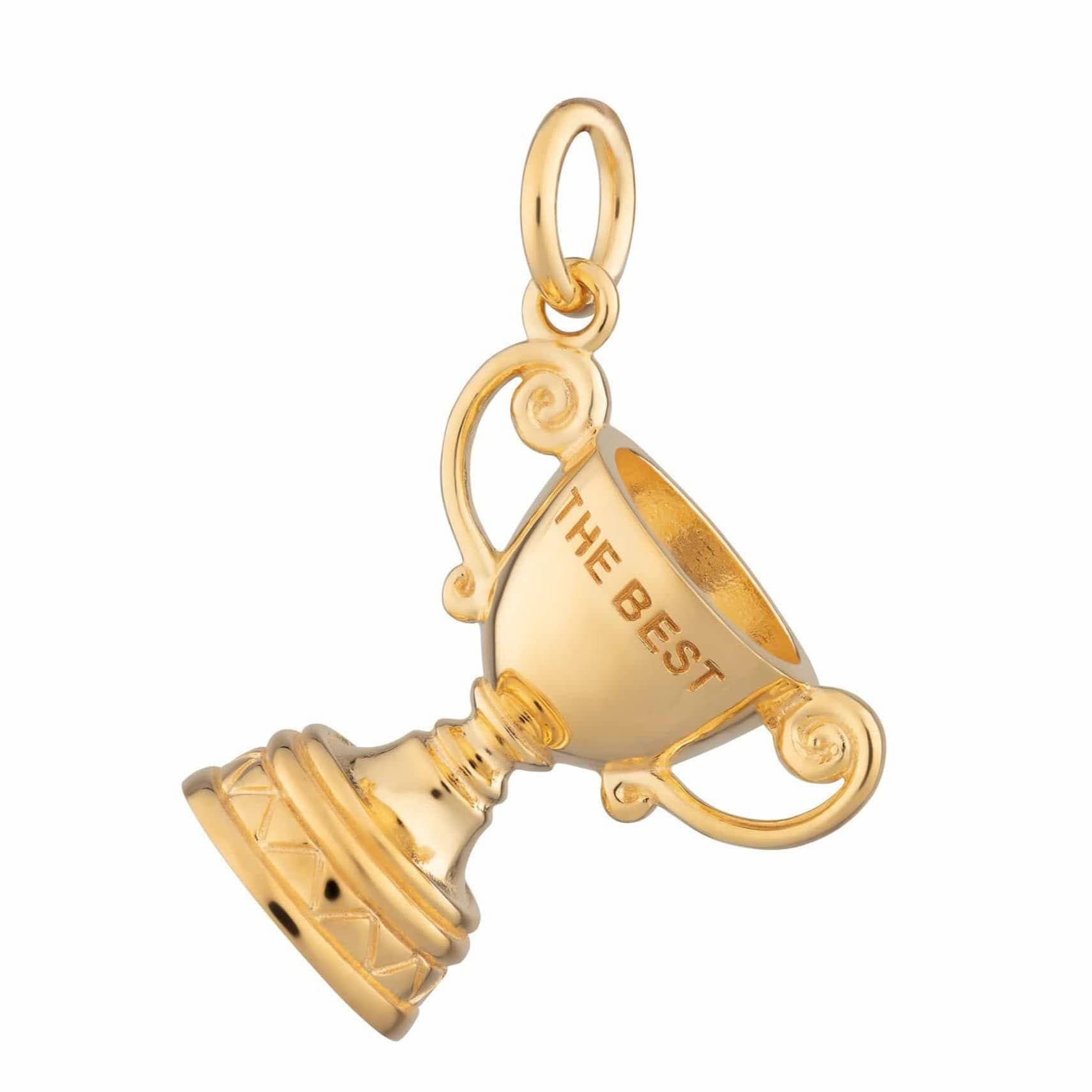 Gold Plated 'The Best' Trophy Cup Charm
