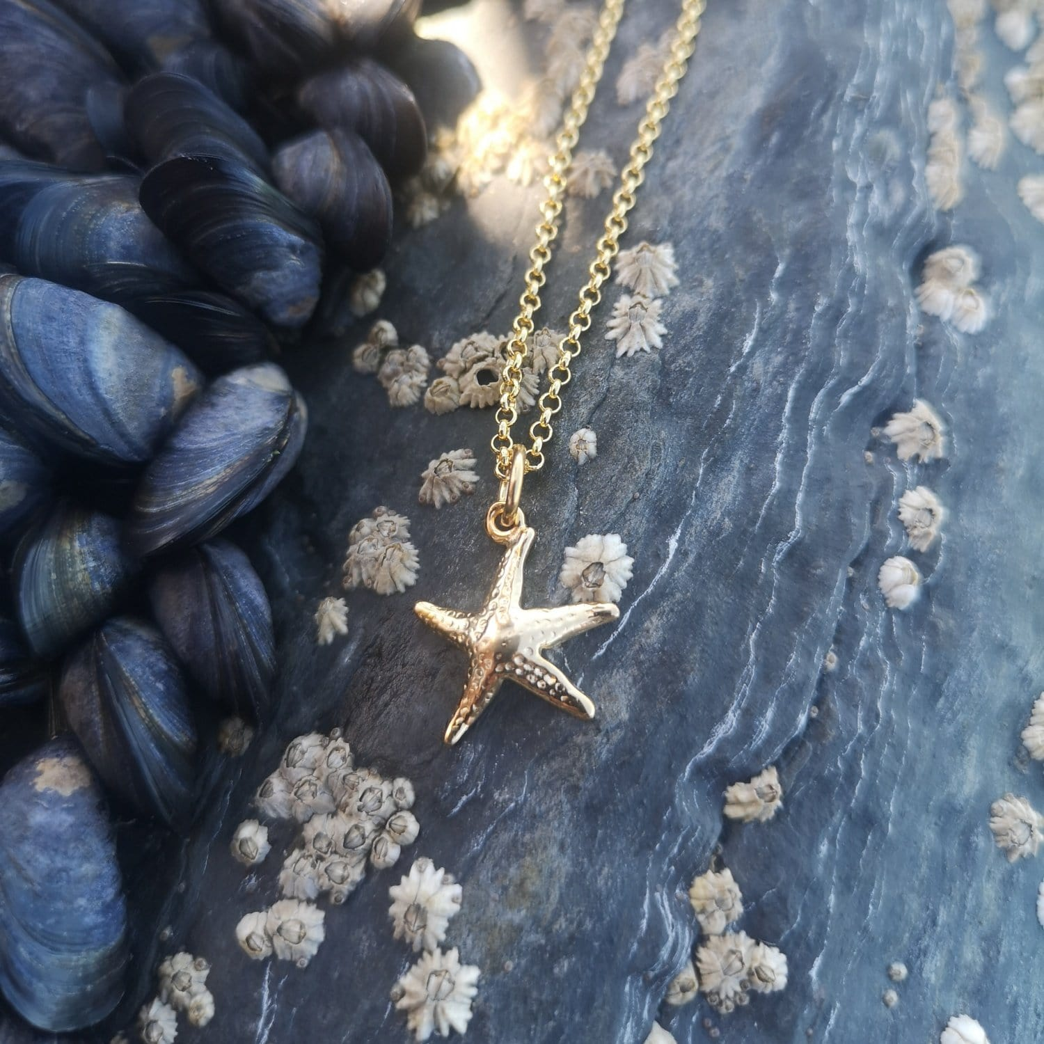 Personalised Gold Plated Starfish Necklace