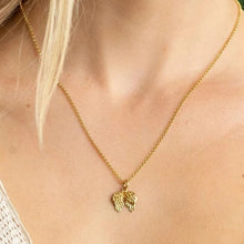 Personalised Gold Plated Angel Wings Necklace - Lily Charmed
