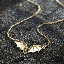 Personalised Gold Plated Bat Necklace - Lily Charmed
