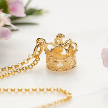 Personalised Gold Plated Crown Necklace - Lily Charmed