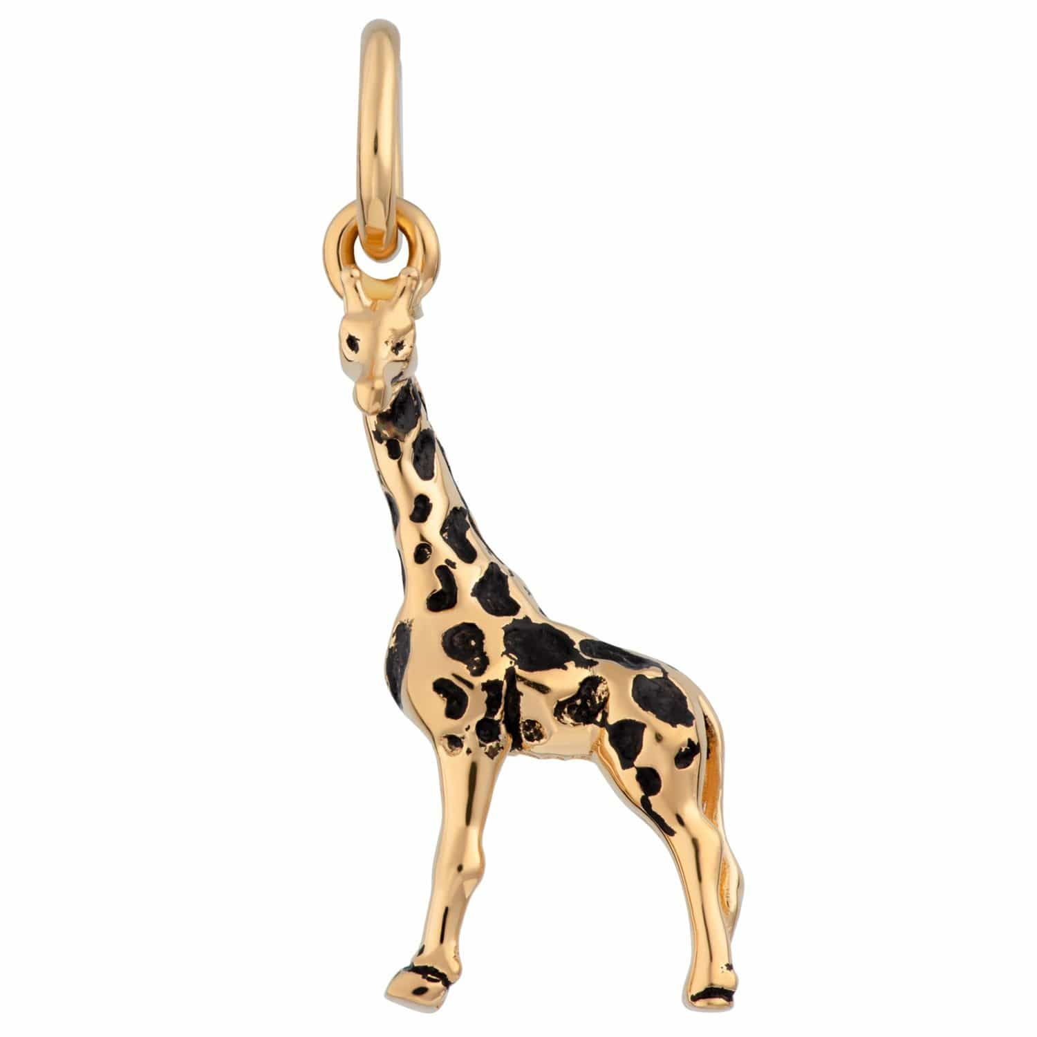 Gold Plated Giraffe Charm - Lily Charmed