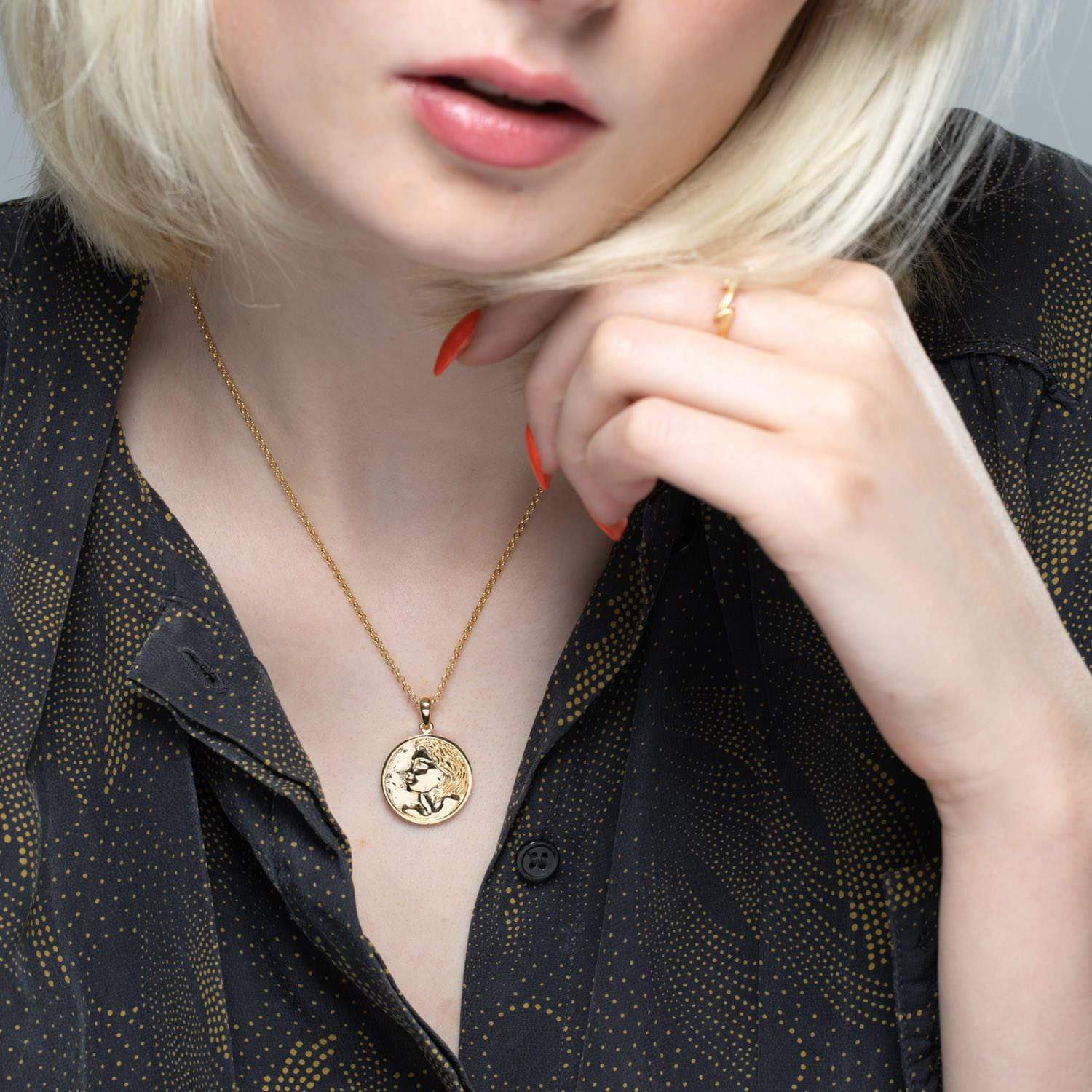 Personalised Gold Plated Heads and Tails Necklace - Lily Charmed