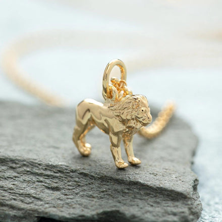 Personalised Gold Plated Lion Necklace - Lily Charmed