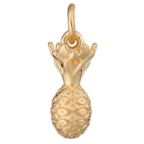 Gold Plated Pineapple Charm - Lily Charmed