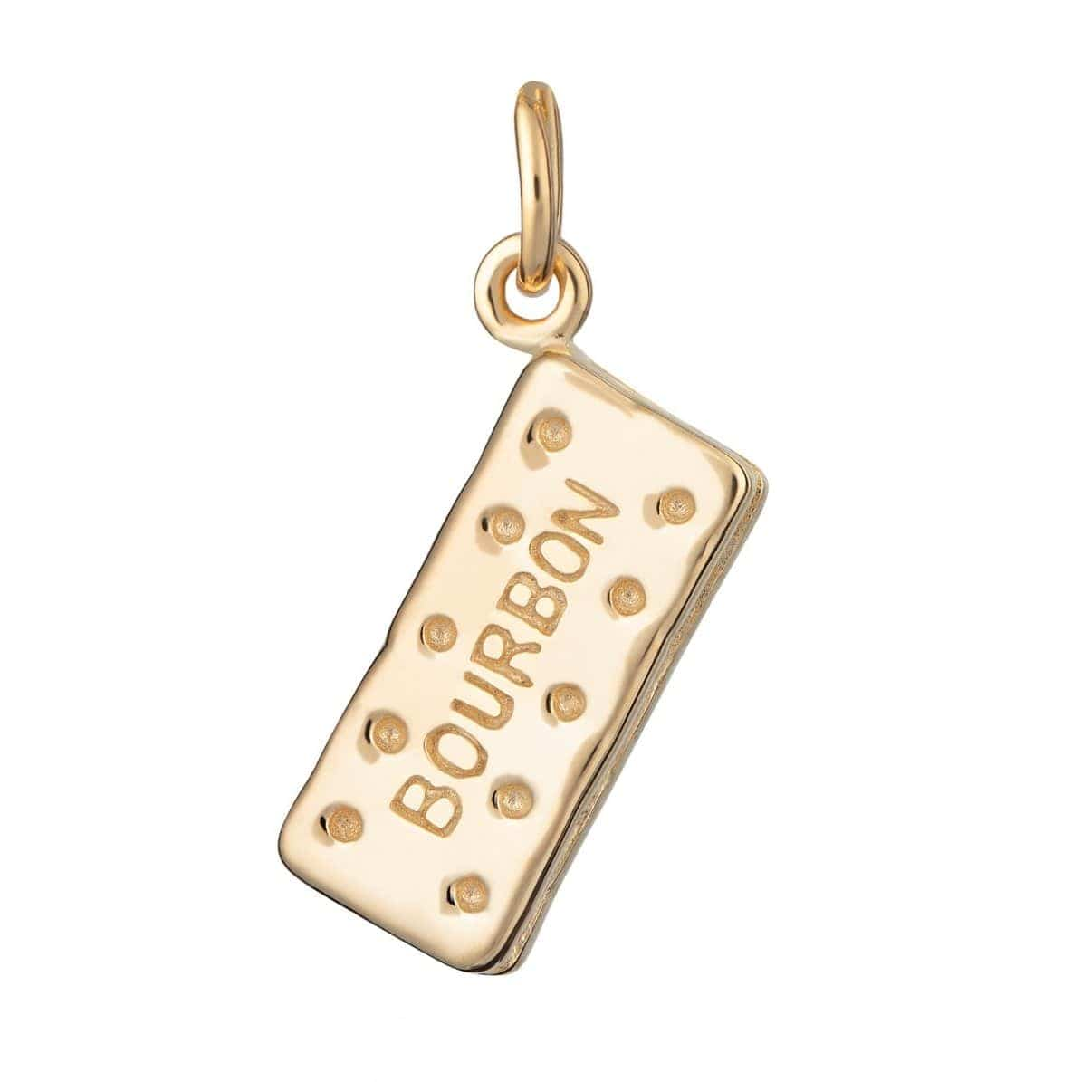 Gold Plated Bourbon Biscuit Charm - Lily Charmed