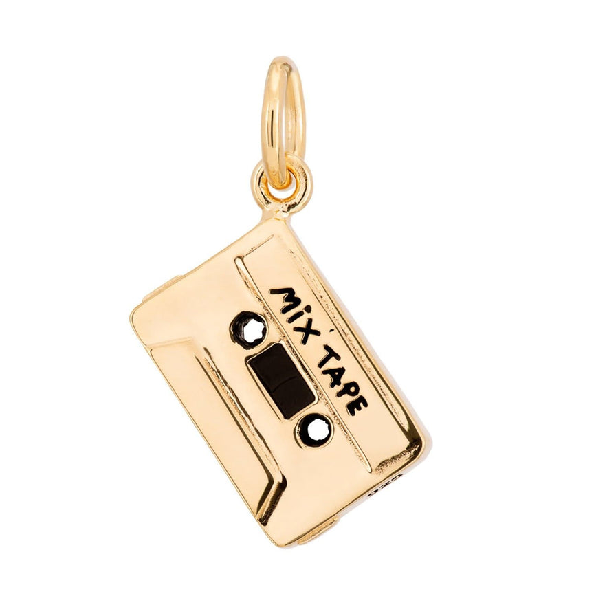 Gold Plated Cassette Tape Charm - Lily Charmed