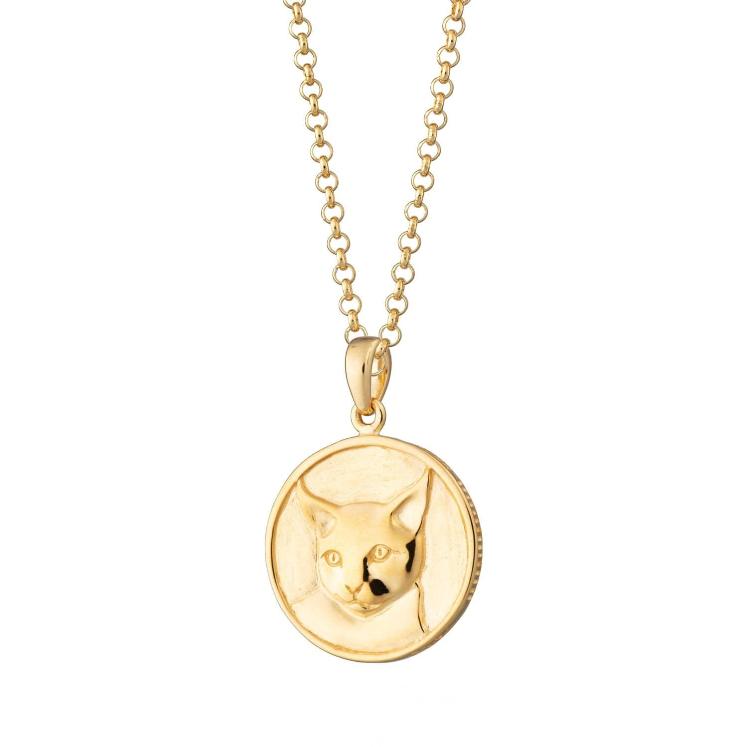 Personalised Gold Plated Cat Heads and Tails Necklace - Lily Charmed