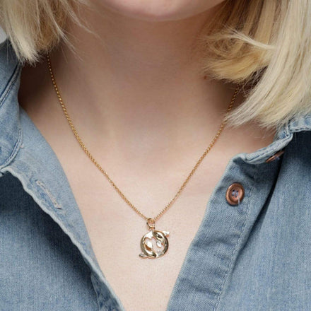 Personalised Gold Plated Koi Carp Necklace - Lily Charmed