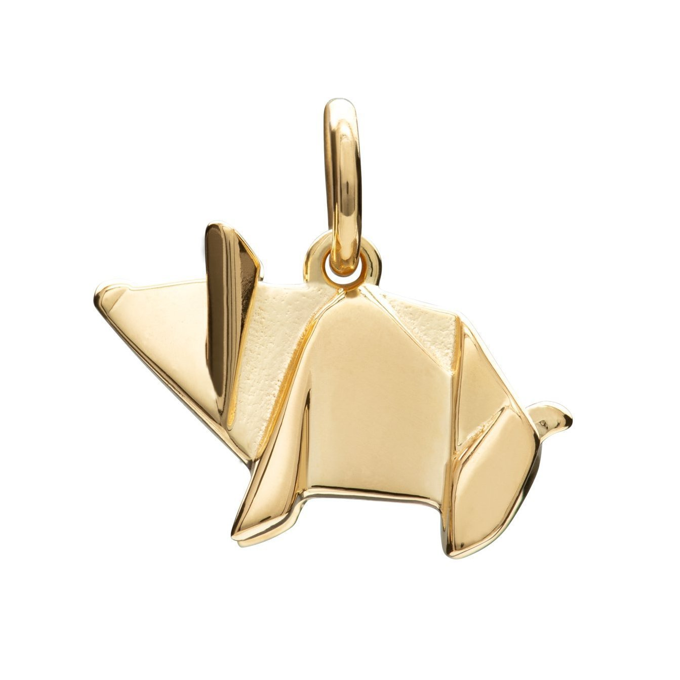 Gold Plated Origami Pig Charm - Lily Charmed