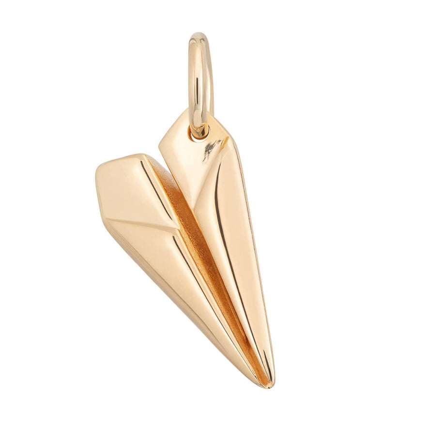 Gold Plated Paper Plane Charm - Lily Charmed