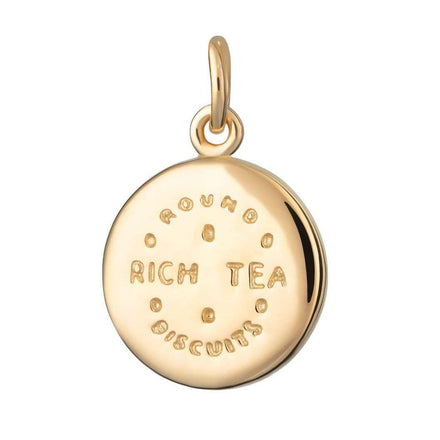 Gold Plated Rich Tea Charm - Lily Charmed