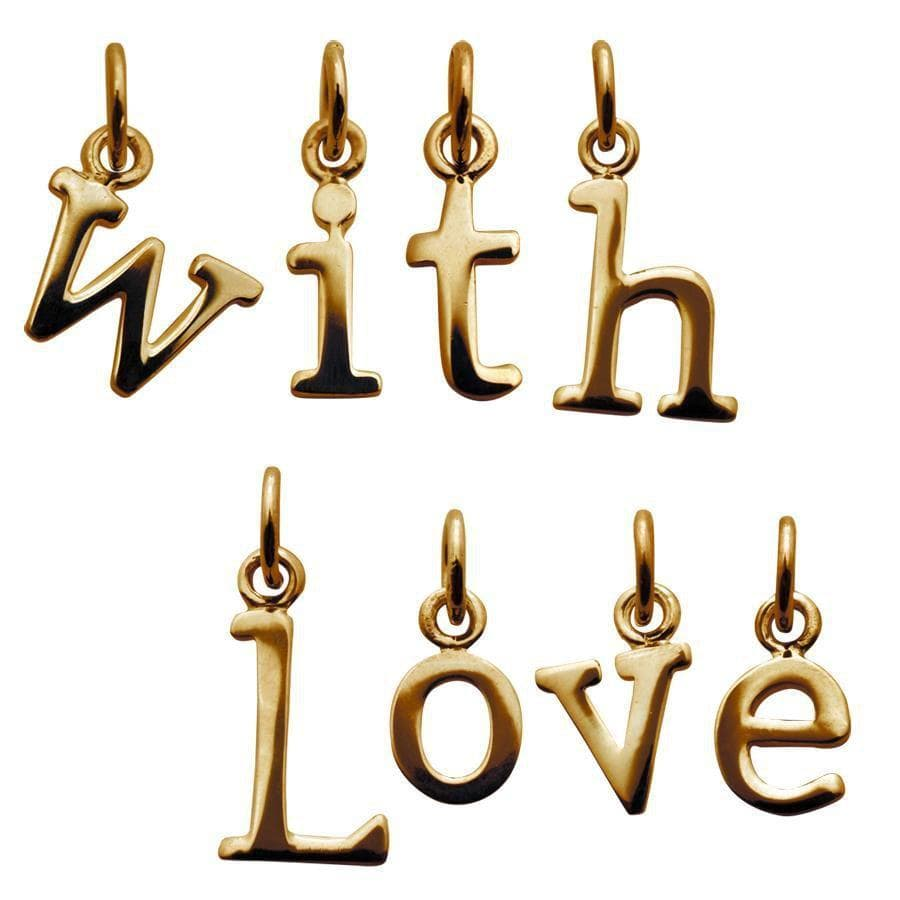 Gold Plated Alphabet Charm - Lily Charmed