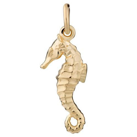 Gold Plated Seahorse Charm - Lily Charmed