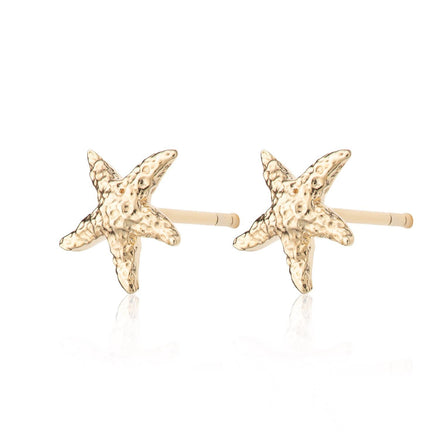 Gold Plated Starfish Stud Earrings - Lily Charmed