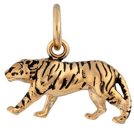 Gold Plated Tiger Charm - Lily Charmed