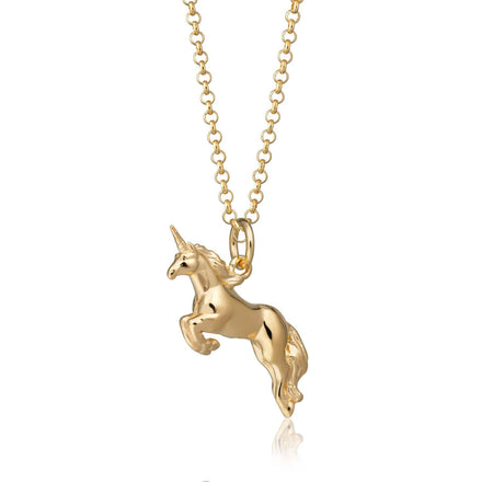 Personalised Gold Plated Unicorn Necklace