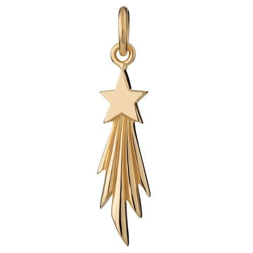 Gold Plated Shooting Star Charm - Lily Charmed