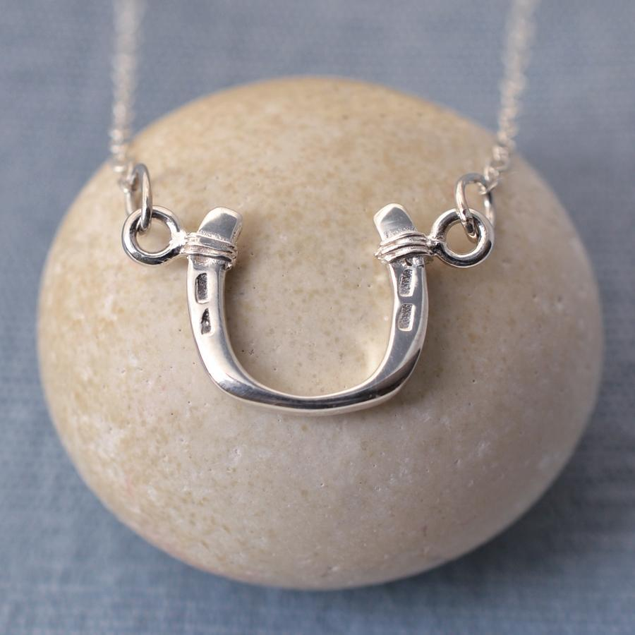 Personalised Silver Horseshoe Necklace