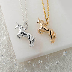Personalised Silver Unicorn Necklace