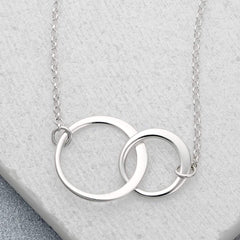 Personalised Silver Linked Circles Necklace