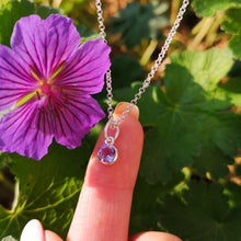 Personalised February Birthstone Necklace (Amethyst)
