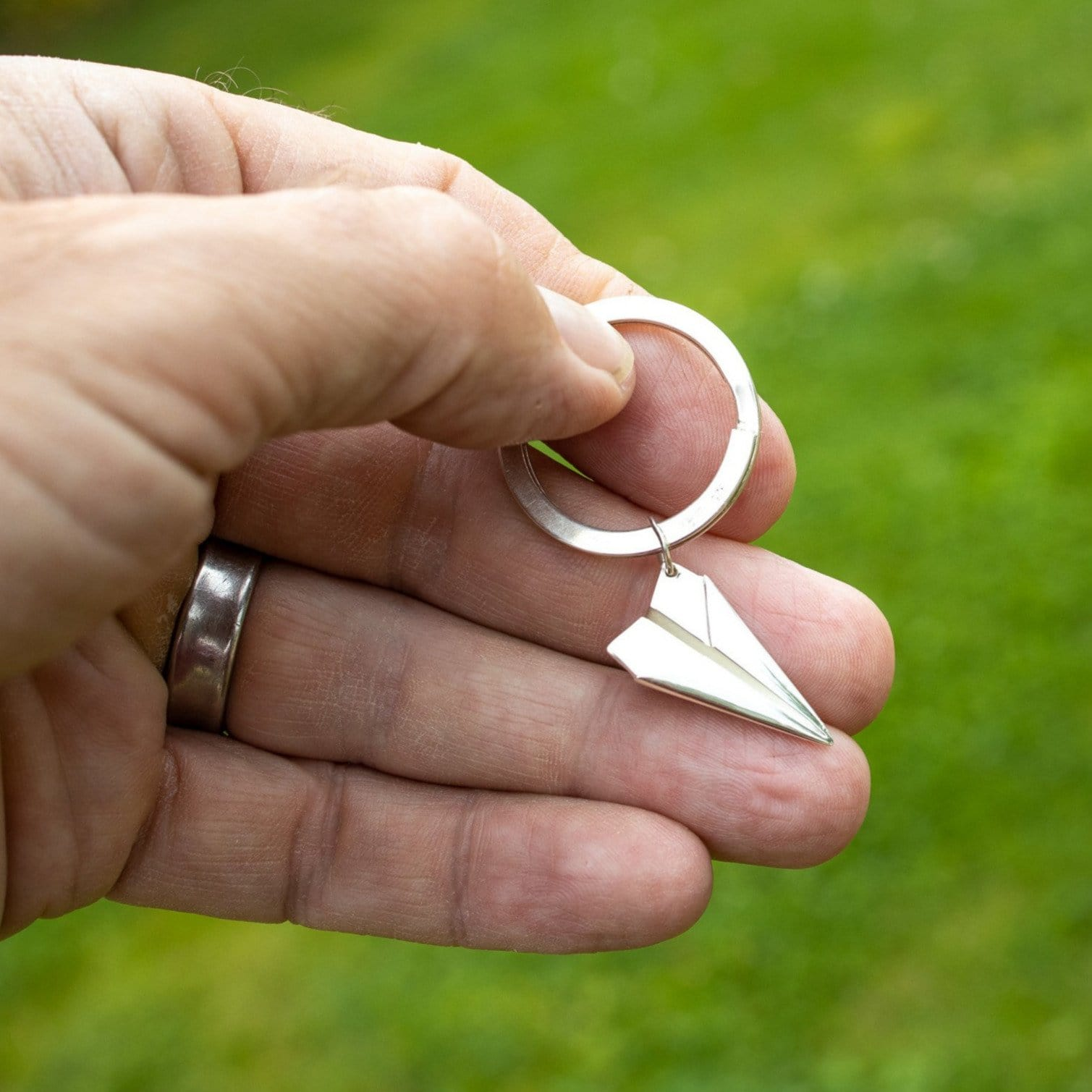 Silver Paper Plane Key Ring - Lily Charmed