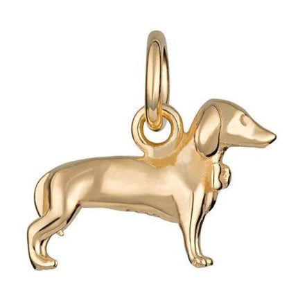Gold Plated Sausage Dog Charm - Lily Charmed
