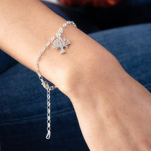Personalised Silver Tree Charm Bracelet - Lily Charmed