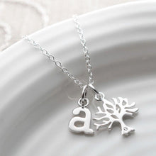 Personalised Silver and Diamond Tree Necklace - Lily Charmed