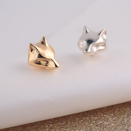 Silver Fox Stud Earrings