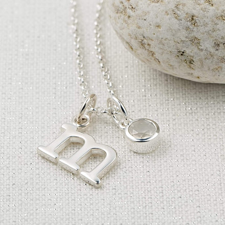 Personalised June Birthstone Necklace (Moonstone) - Lily Charmed