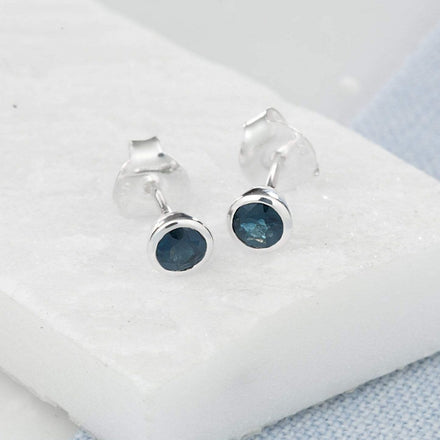 September Birthstone Earrings (Sapphire)