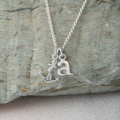 Personalised Silver Anchor Necklace - Lily Charmed