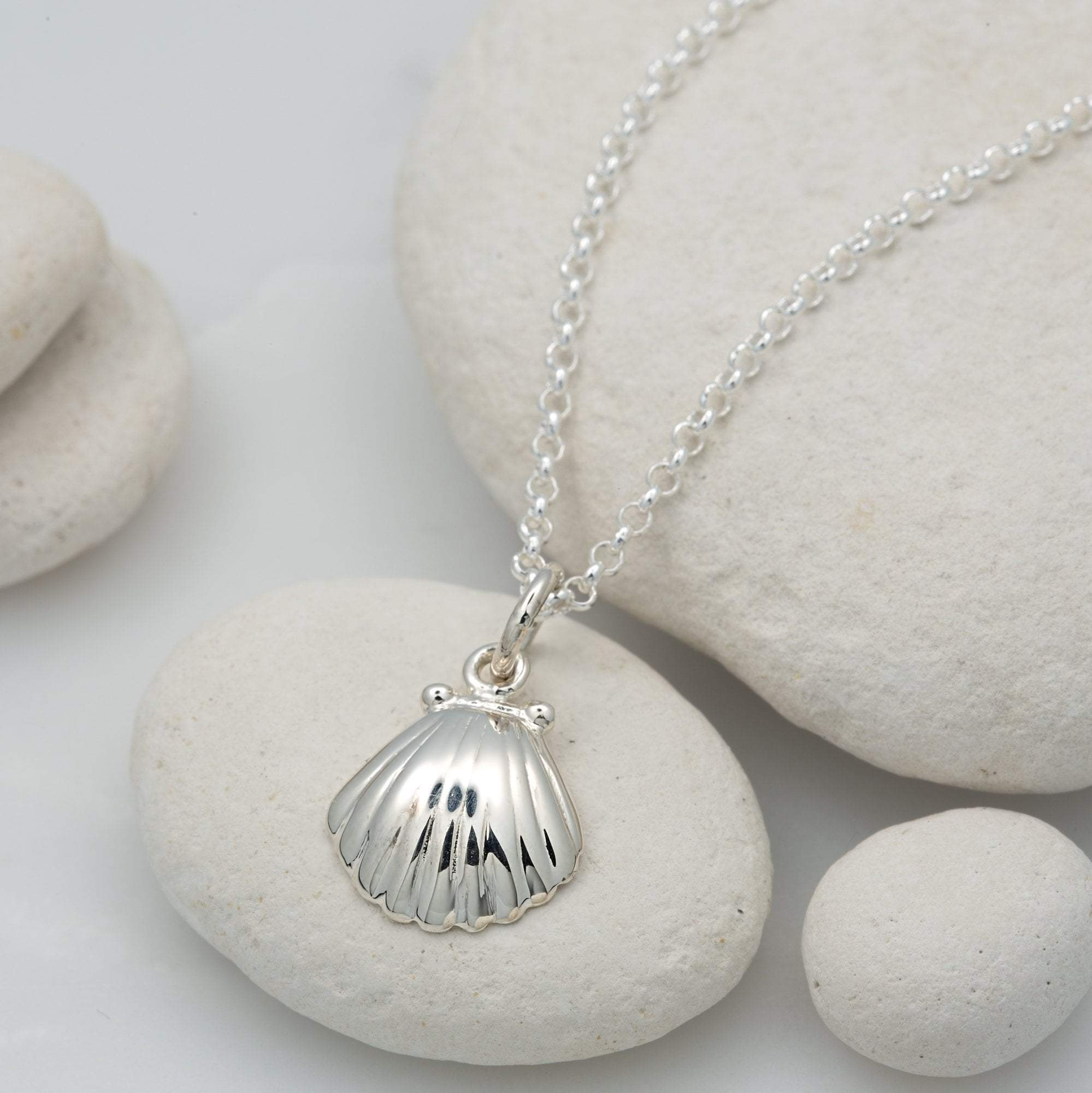 Children's Personalised Silver Clam Shell Necklace - Lily Charmed