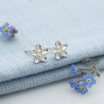 Silver Forget Me Not Stud Earrings