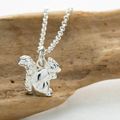 Personalised Silver Squirrel Necklace