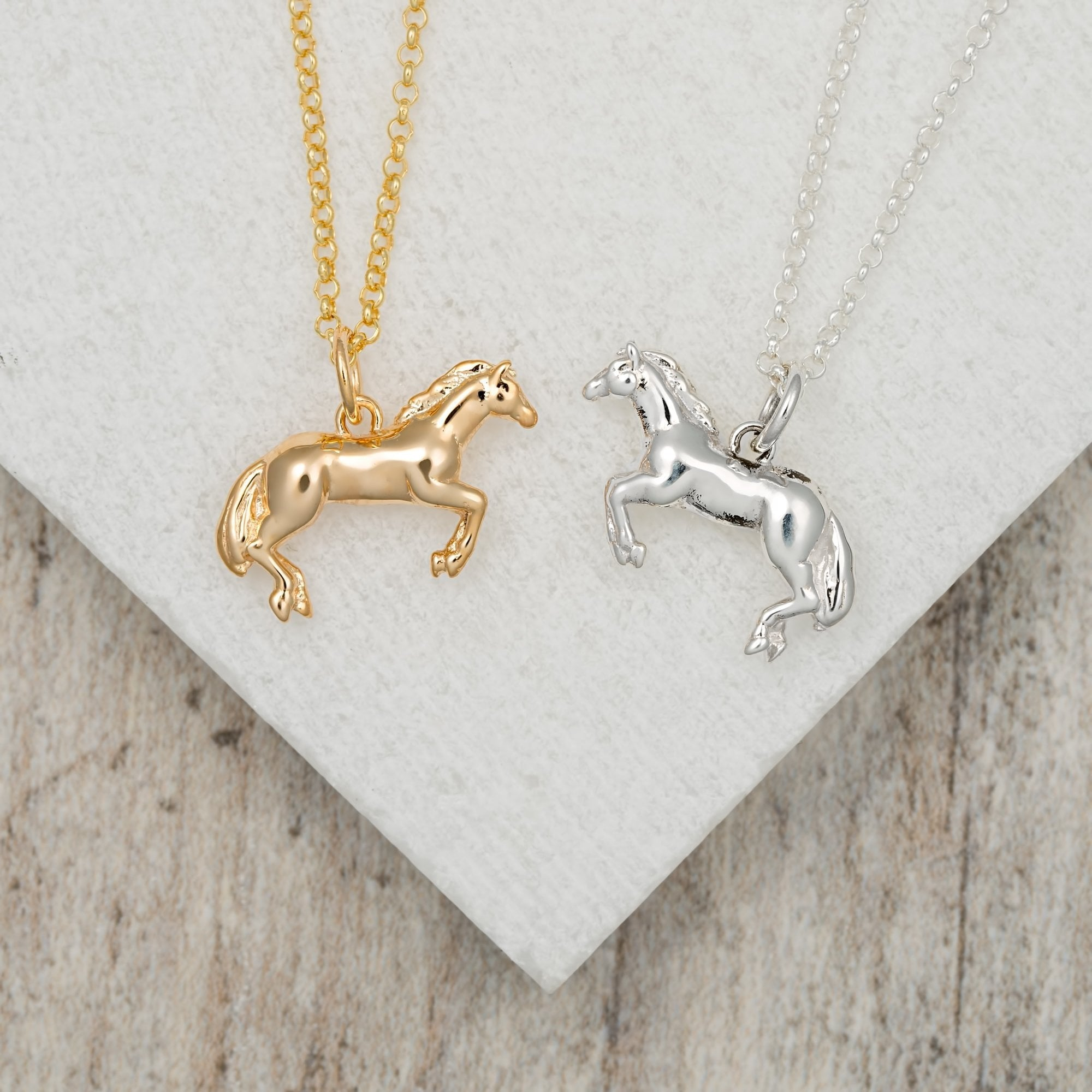 Personalised Gold Plated Horse Necklace - Lily Charmed