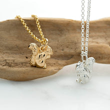 Personalised Silver Squirrel Necklace - Lily Charmed