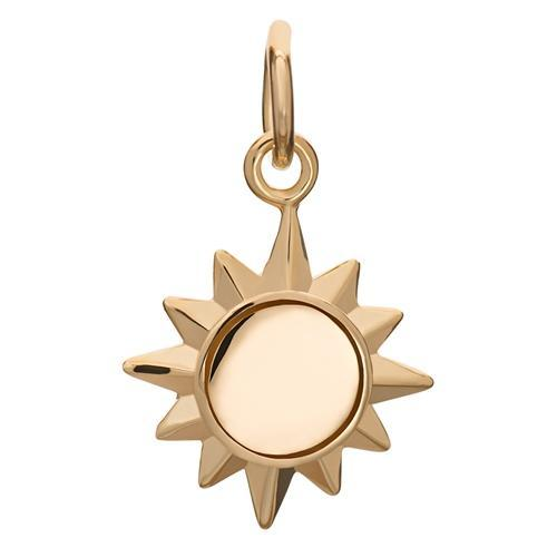 Gold Plated Sunshine Charm - Lily Charmed